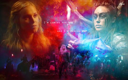 Clarke and Lexa fond d'écran containing a concert titled clexa.