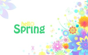 colorful spring text