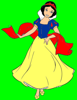 डिज़्नी princess snow white coloring page