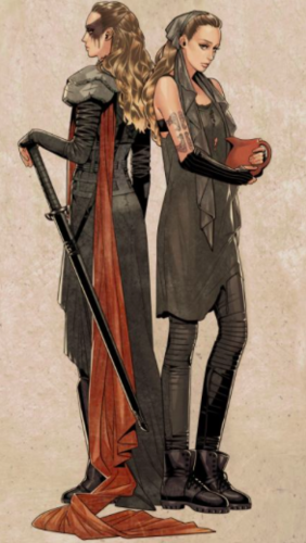 Commander Lexa (The 100) fond d'écran possibly with a hip boot and a surcoat, surcot entitled fanart