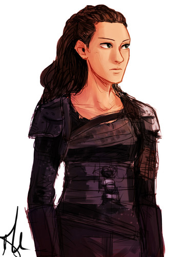 Commander Lexa (The 100) fond d'écran called fanart