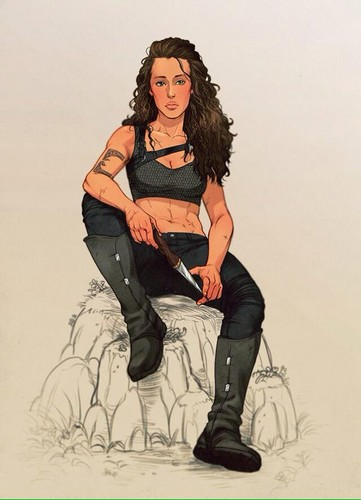 Commander Lexa (The 100) 壁紙 probably with a hip boot called fanart