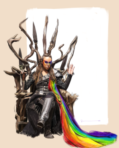 Commander Lexa (The 100) 壁紙 titled fanart