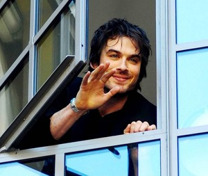 ian somerhalder waving