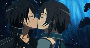 kirito and sinon KISS