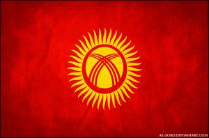 kyrgyzstan grunge flag door al zoro d4avpe6
