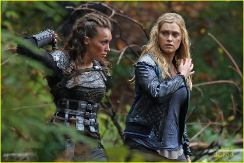 Clarke and Lexa fond d'écran possibly containing a hip boot and an outerwear entitled lexa clarke