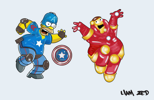 The Simpsons Vs Family Guy Обои titled liam zed civil war by liamzedthedesigner d9z2h1r