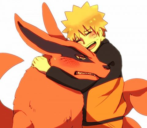 Naruto wallpaper possibly containing anime called naruto and kurama