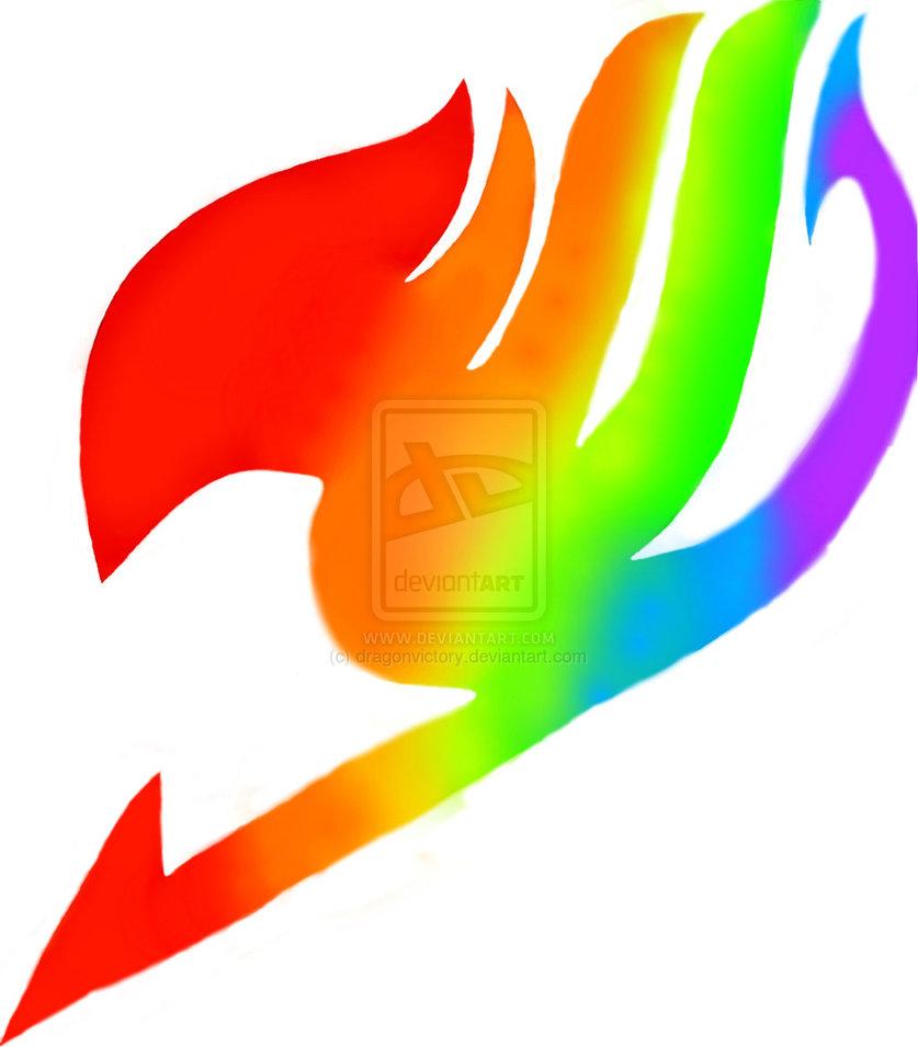 rainbow fairy tail logo by dragonvictory d7dshxx