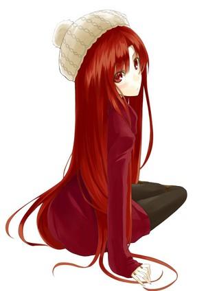 red head animé girl