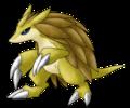 sandslash emerges - pokemon fan art