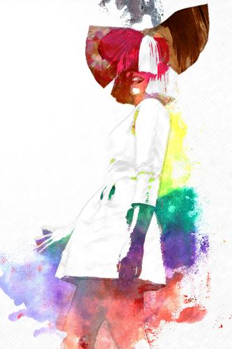 Sia Wallpaper Titled Watercolor