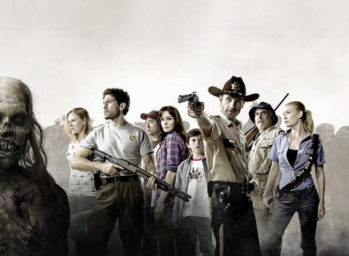 The Walking Dead kertas dinding entitled the walking dead cast