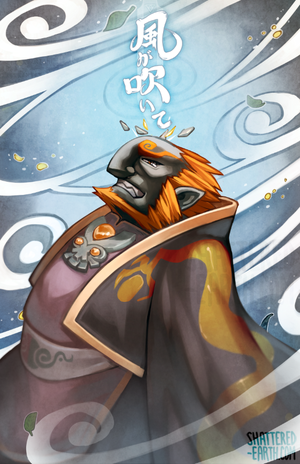 the wind is blowing  wind waker ganondorf  by shattered earth d7wdmze