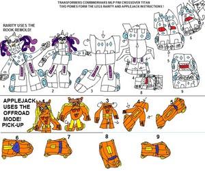 transformes combiner wars crossover mlp fim toy idea instructions enjoy!
