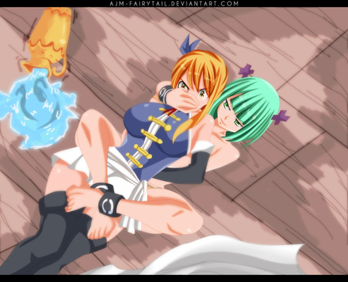 fairy tail wallpaper called *Brandish μ Tries To Kill Lucy*