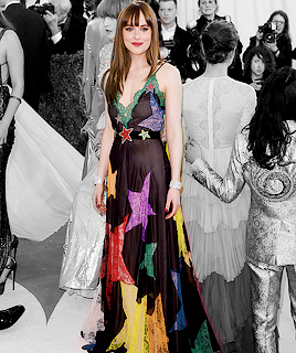 Dakota Johnson attends the Met Gala, New York {May 2nd, 2016}