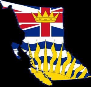 Flag map of British Columbia
