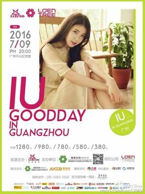 아이유 IU 'GOOD DAY' New Poster for Fan Meeting in China