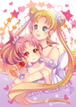 Neo Queen Serenity and Small Lady - sailor-moon fan art