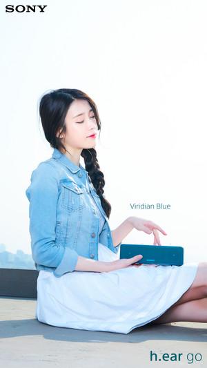 160419 아이유 for Sony Korea 비리디언 블루 Viridian Blue