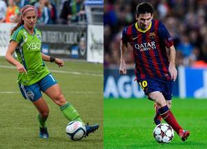 Alex morgan & Lionel Messi