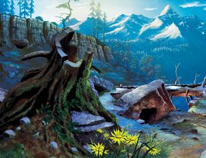 Alpha and Omega Background