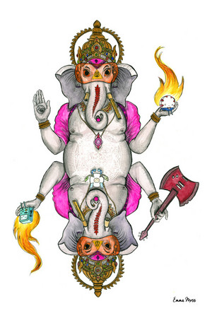 Ancient Psychic Tandem War Elephant