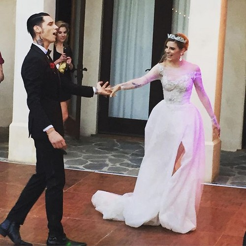Andy Sixx Hintergrund with a business suit and a bridesmaid entitled Andy and Juliet ~April 16, 2016