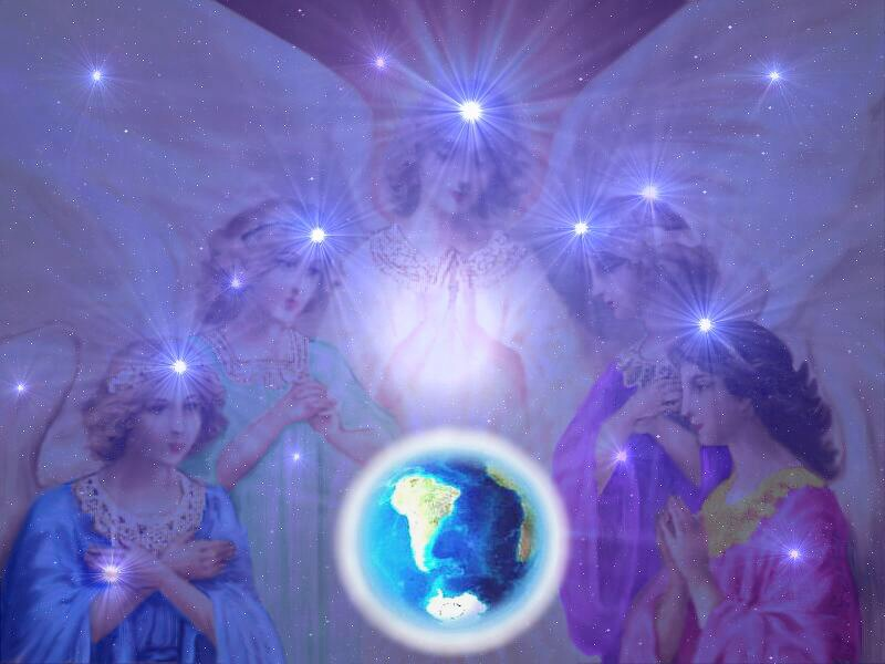 Angels watching over earth