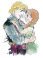 Anna and Kristoff - frozen fan art