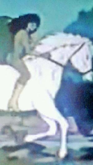 Ariel rides an White Horse