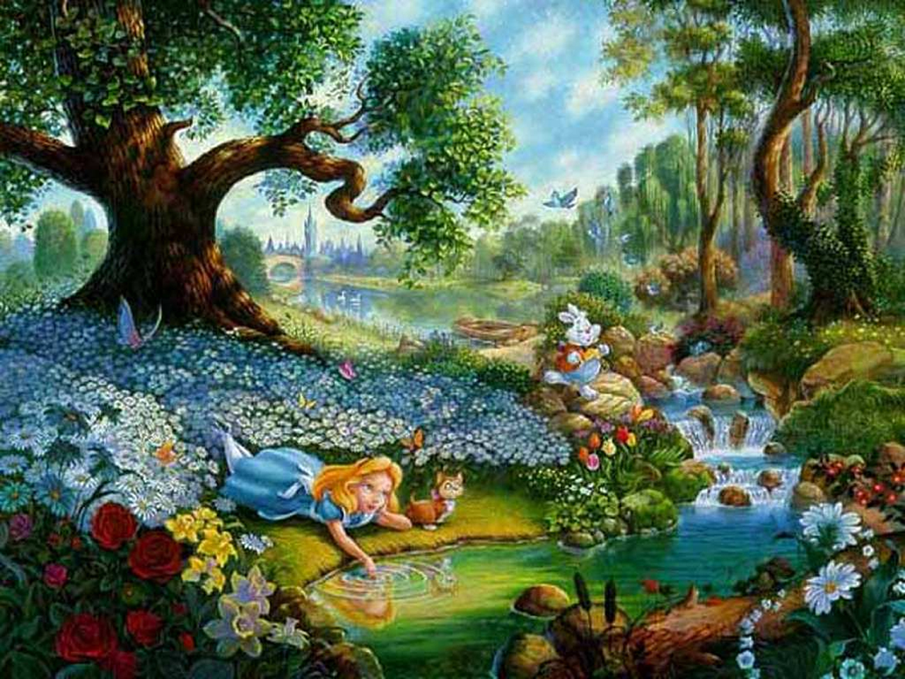 Disney alice in wonderland mushroom background