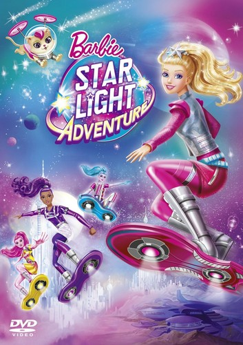 películas de barbie fondo de pantalla possibly containing a sign and anime entitled Barbie: estrella Light Adventure HD DVD Cover