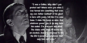 Barnabas Collins' speech to the portrait of Josette Collins