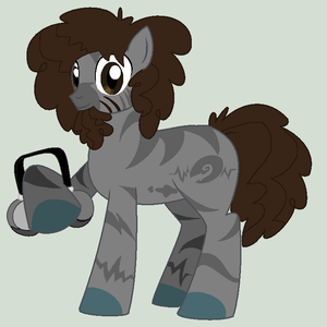 Beardo as a pony