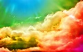 Beautiful colorful clouds - colors photo