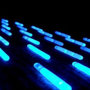Blue glow sticks
