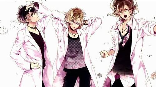 Diabolik Lovers achtergrond titled Boys glasses
