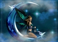 Butterfly girl on the moon - fantasy photo