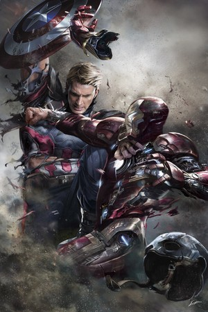 Captain America: Civil War - Captain America vs Iron Man - Concept Art