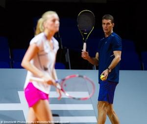 Cermak looks on Kvitova..