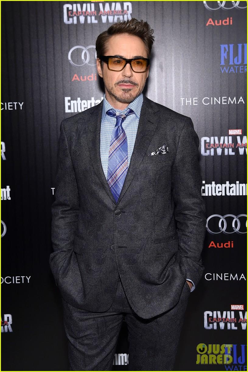 Chris Evans and Robert Downey Jr. Screen 'Captain America: Civil War' in NYC