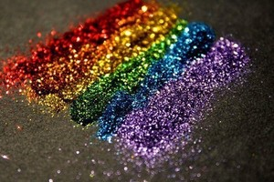Colorful glitters