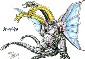 Concept Art Godzilla vs. King Ghidorah Mecha King Ghidorah 3