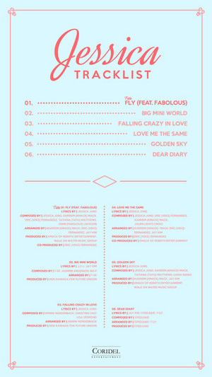 Coridel Ent has released the full track daftar for Jessica's upcoming album!