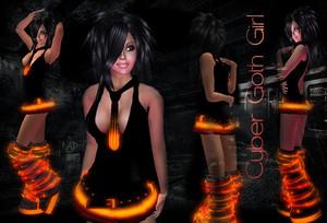 Cyber Goth Girl   Francine