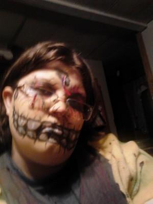Cyborg SpringTrap Face Paint