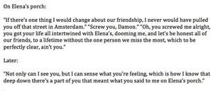 Damon and bonnie conversation about elena